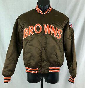 Cleveland Browns Vintage 80s NFL Starter Jacket Pro Line Medium Satin USA