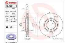 2x BREMBO Disque de frein 290mm Ø Ventilé pour RENAULT TRUCKS MASCOTT 09.7261.10