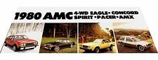 1980 AMC American Motors Car Brochure - Eagle 4wd Spirit Concord Pacer Wagon