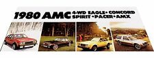 1980 AMC American Motors Car Brochure - Eagle 4wd Spirit Concord Pacer Wagon