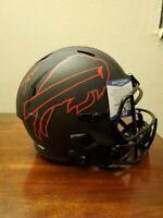 Zach Moss Autographed Full Size Matte Black Eclipsed Helmet Coa Beckett...