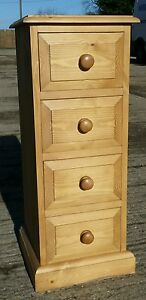 Solid pine 4 drawer bedside *Brand New*
