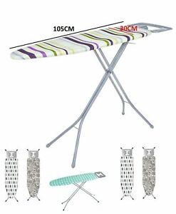 Folding Metal Ironing Board RACK Iron Non Slip Feet Foldable Adjustable Height