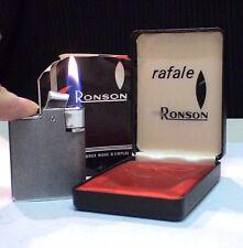 BRIQUET Ancien @ RONSON Rafale Doc + écrin @ Gas Lighter * Feuerzeug * Accendino