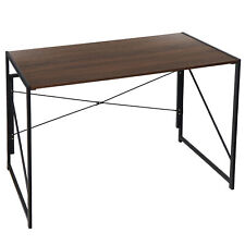 Office Foldable Table Writing Computer Desk Industrial Style Pc Laptop Table