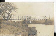 real photo postcard tressle bridge on the mar ais des cygnes river, kansas 1930s