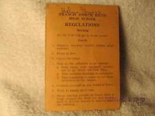 1930s Pamphlet Regulations of F.J. Reitz High School Evansville IN Helen Griess