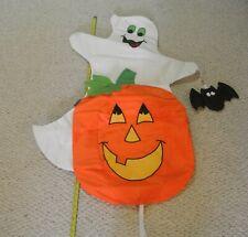 """3D 45"""" Long Halloween Ghost Pumpkin & Bat Windsock Wind Sock Indoor Outdoor"""