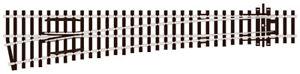 PECO 00 Gauge Streamline Track, Layout  Item No:SL-89 Large radius L/H turnout.