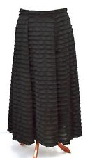 STUNNING A-LINE QUIRKY 2 LAYERS MAXI SKIRT*BLACK*AKH GERMANY DESIGN Size M-L-XL