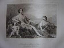 Grande gravure Portrait de Marie Anne de BOURBON Mademoiselle de Clermont 1741