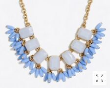 Sold Out! $54.50 Faded Peri J.Crew Factory Beaded Fringe Gemstone Necklace!