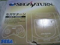 Sega Saturn HST-0004 Boxed Launch Edition Gray Console from japan Free Ship