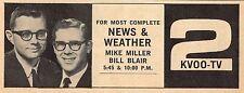 1964 KVOO TV AD~MIKE MILLER~BILL BLAIR~TULSA OKLAHOMA NEWS & WEATHER~CHANNEL 2