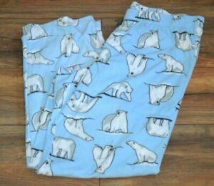 Croft & Barrow Fleece Lounge Pants Mens Pajama Bottoms Polar Bear