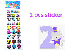 1PCS PVC Number Cartoon Stickers Lot Craft Scrapbooking Paper Kid Handmade DIY