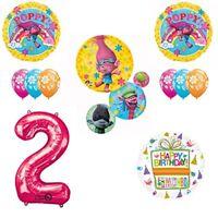 TROLLS Movie 2nd Happy Birthday Party Balloons Supplies Poppy Branch Movie