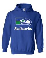 Vintage Seattle Seahawks Hoodie Sweater Retro Logo, Brand New item old stock