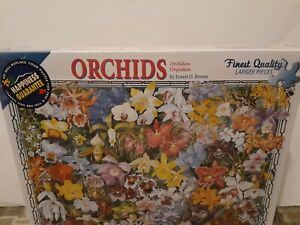 "White Mountain Orchids 1000 Piece Puzzle 24"" x 30"" BRAND NEW"