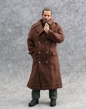 "Coffee Wind coat Overcoat Long Man Fit 1/6 Scale 12"" Figure Model 1:6 toys NANU"