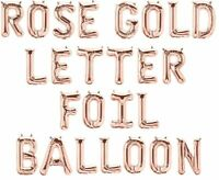 Rose Gold Foil Balloons PERSONALISED BIRTHDAY NAME All Letters & Numbers
