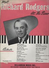 Meet Richard Rodgers Rogers at the Piano 1949 Broadway & Movie Show Tunes Euc