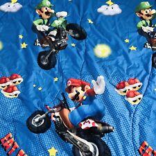 Super Mario Nintendo Reversible Twin Blanket Comforter Bedding Eat My Dust 2013