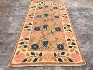 Vintage Handmade Aubusson Rug Needle Point Oriental Wool Kilim Area Rug