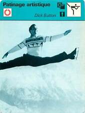 "FICHE CARD:Richard ""Dick"" Button USA Patineur artistique Patinage artistique 70s"