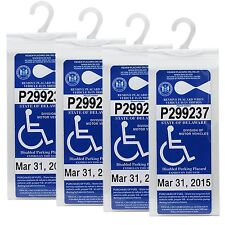 2-4Pcs Handicap Parking Permit Protector Cover Disabled Parking Placard Holder