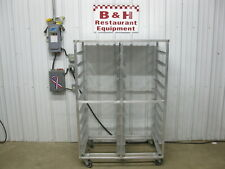 """40"""" x 26"""" Aluminum Double Side Bakery Sheet Pan Rack Bakers Cart Stainless Top"""