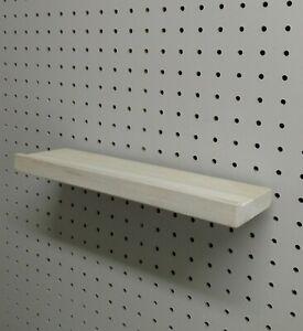 16 Inch Pegboard Shelf Solid Wood Unfinished - Poplar