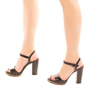 RRP €120 CECCONELLO Ankle Strap Sandals EU 38 UK 5 US 8 Varnished Platform Sole