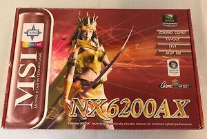 MSI nVidia GeForce 6200 256MB DDR2 AGP 8X RARE! Graphics Card NX6200AX-TD256H D2