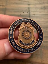 Unreal RARE Diplomatic Security Service Los Angeles Special Agent Challenge Coin