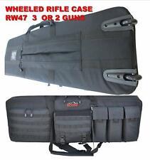 Explorer Tactical Rolling 3 Rifle Gun Case, Black, 46 x 13.5 x 4-Inch Backpack