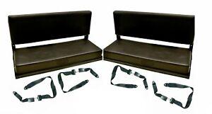 LAND ROVER DEFENDER 90/110 2 FOLDING REAR BENCH SEATS + 4 LAP SEAT BELTS -RBSK01
