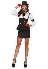 Machine Gun Molly Women's Halloween Costume Size Medium Gangster Mafia NEW Sexy