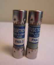 Menge 2 Bussmann Buss Fusetron FNA-3 Dual Element IR 10kA 125V AC fuse