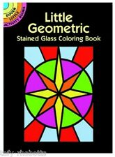 Coloring Book For Adult, Little Geometric Shapes Stained Glass Kid Craft Drawing