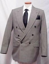 Men's Gerald Austin Gray Wool Double Breasted Sport Coat Size 42R