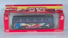 """Majorette Super Movers 3040-3070 Charter Tour Bus 9"""" Die Cast Scale Model France"""