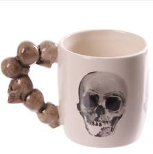Skull Stack Shaped Handle Mug, Gothic Skull Head Handle