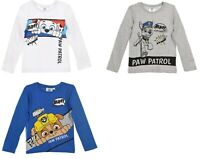 Boys Kids Official PAW Patrol Character T-Shirt Long Sleeve Top 2-6 Years