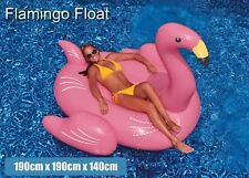 Adults Giant Inflatable Pink Flamingo Pool Float Raft Swimming Lounge Toy Bed AU