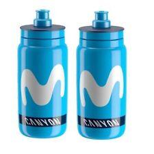 2x Elite Fly Team Movistar Canyon Endura Cycling Water Bottles - Blue 550ml