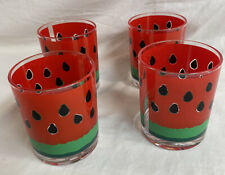 Stotter Double Old-Fashioned 4 Plastic Glasses Watermellon Seeds Original Box