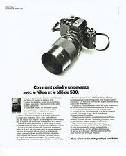 Publicité Advertising 088  1975   Nikon appareil photo Micro-Nikkor André Martin