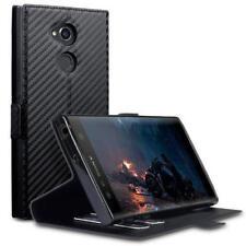 Étuis, housses et coques etuis portefeuilles Sony Xperia XA Ultra en fibre de carbone pour téléphone mobile et assistant personnel (PDA)