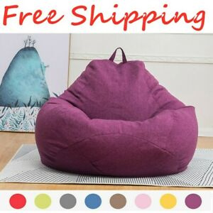 Extra Large Bean Bag Chair Sofa Cover Indoor/Outdoor Game Seat Couch Lazy Bags